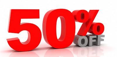 Sale off 50% hàng tồn kho